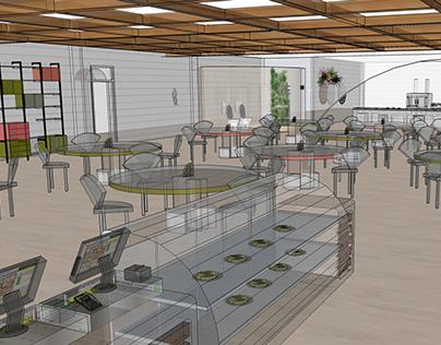 The Waffle House Interior
