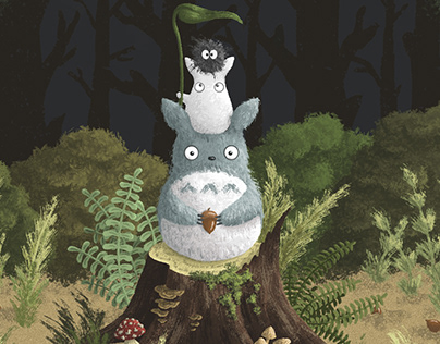 Totoro at work.
