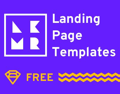 4 Landing Page Templates (Sketch)