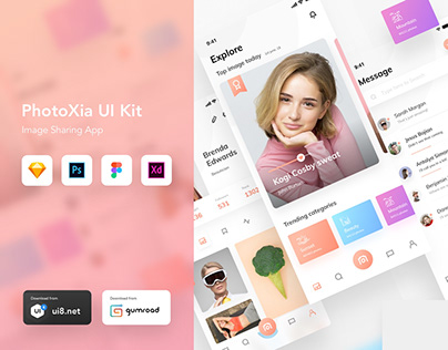 PhotoXIa - Image sharing app UI kit