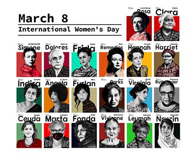 20 Powerful Women – International Women's Day