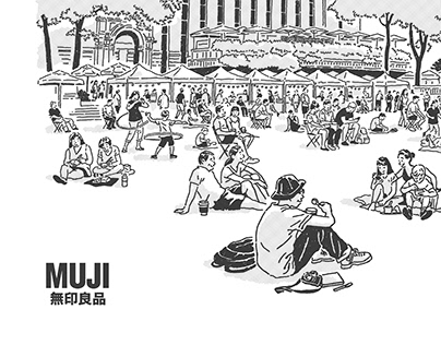MUJI Gangnam zine cover art