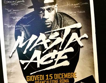 Masta Ace - Grafica per manifesto live