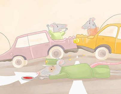 Kinderbuchillustration Ratte