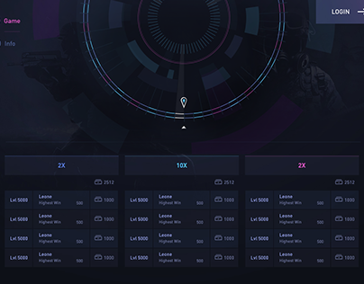 Futuristic Roulette Wheel UI Elements