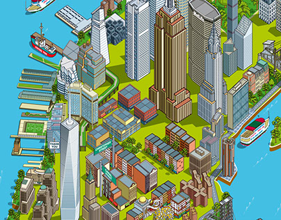 Circle Line Sightseeing Cruises: New York Map 2017