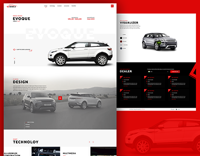 Car Launch Website Landing Page Design