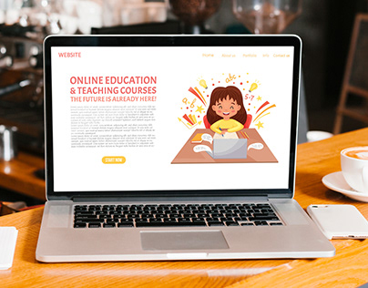 Landing page, app mobile templates for Online education