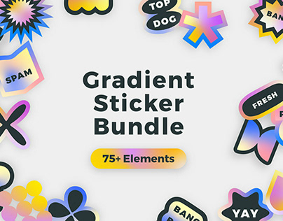 Gradient Sticker Bundle Designed by Clayton Facchini