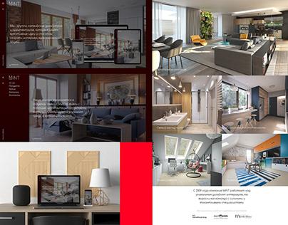Вариант сайта для архитектурного агентства в Латвии