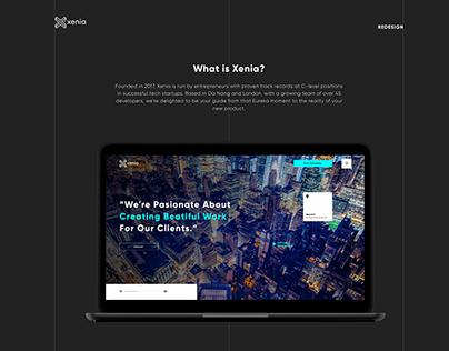 Xenia website - Redesign concept