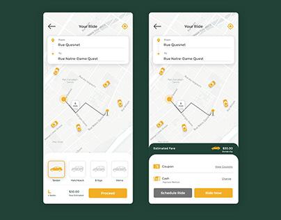 Taxi Booking App UI desing