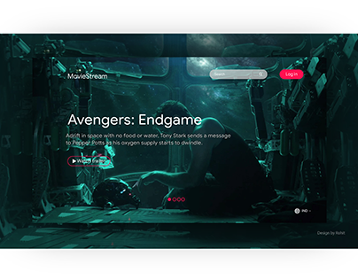 Streaming movie website UI