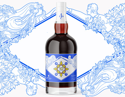 "Port Wine Brand ""Azulejo"" Art Label & Illustration"