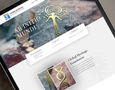Global Heritage Foundation Website Design