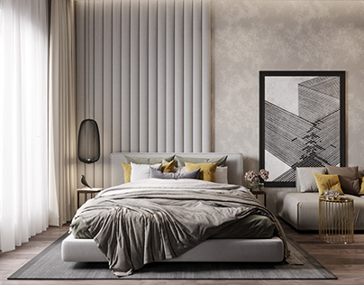Bedroom- interior design_private apartament-Moscow55m2