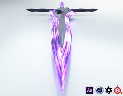 Fantasy Sword 3D Model and Renders