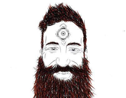 Bearded 3eyed man