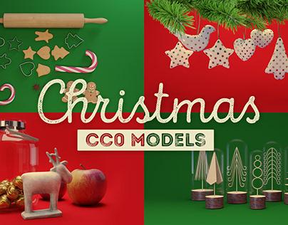 Free CC0 3D Models - Christmas decorations