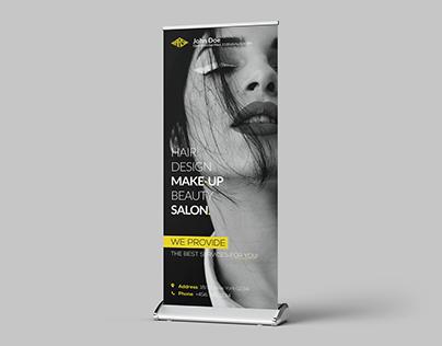 Beauty Salon Roll Up Banner