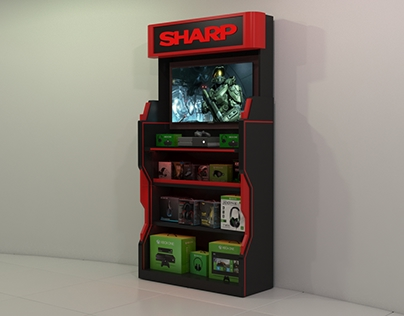 SHARP gaming store TV stand design