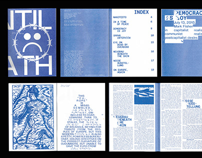 "Risograph Fanzine ""UNTIL DEATH"""