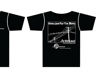 "Lectrosonics ""For The Birds"" T-Shirt Design"