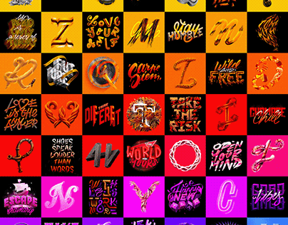 126 Daily Ipad Letterings Collection