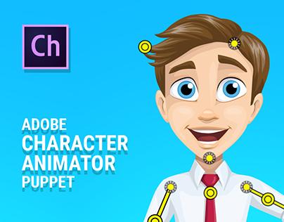 Alex the Businessman - Free Character Animator Puppet