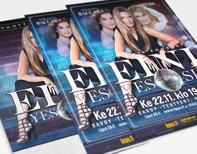 Eini Yes Sir -tour posters