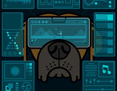 VR User Interface Logo Animation
