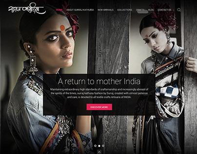 Surraj Kathuria Fashion designer's Website