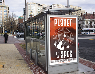My poster redesign for the 1968 Planet of the Apes film