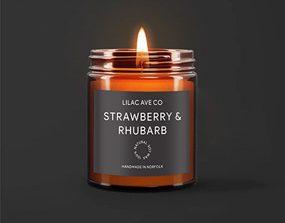 lilac candle label design