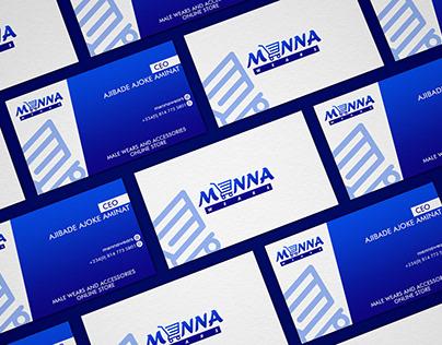 Menna Wears Logo, e-Flyer & Business Card