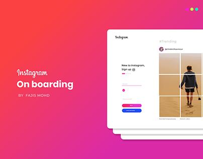 Instagram Onboarding!