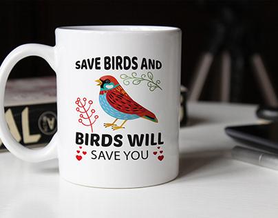 Bird lover,Save Bird t-shirt design