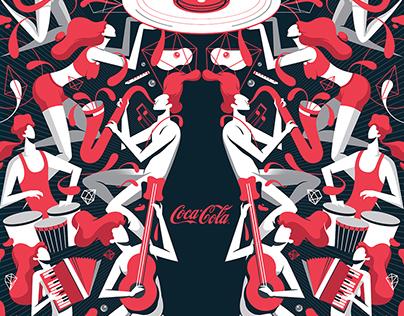 Coke Music Poster