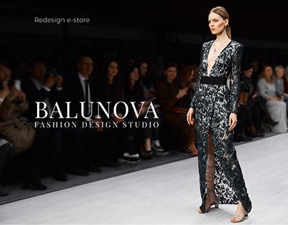 e-store BALUNOVA redesign