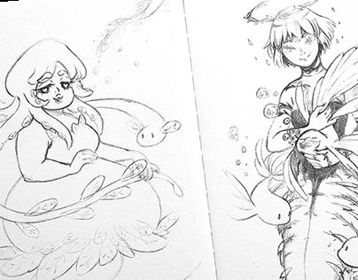 SEA CREATURES | Character design