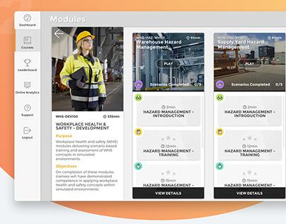 3D Training Platform for iOS & PC - UI/UX