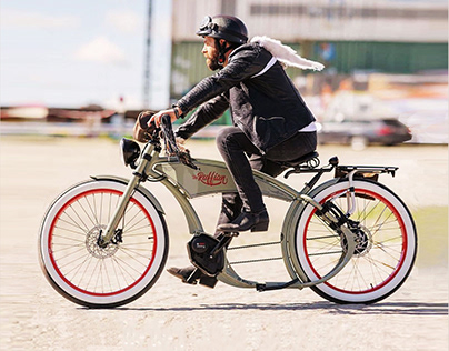 «The Ruffian» electric-bike landing
