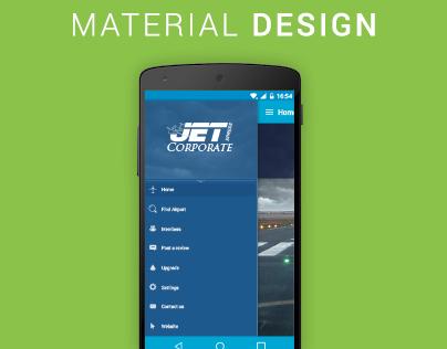 Material Design Phone App Design