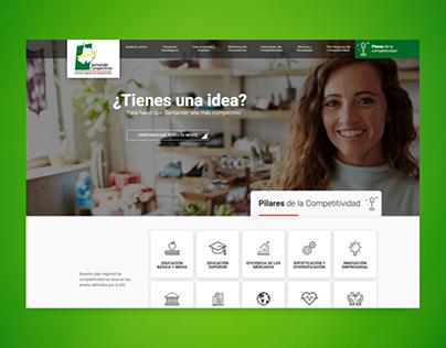 Santander Competitivo, página web administrable