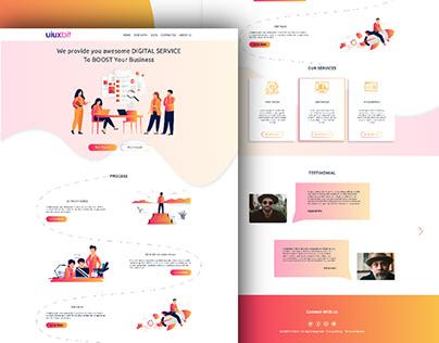 Digital Service Website Ui Design