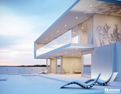 Corona C4D Scene files - Minimalist House Exterior