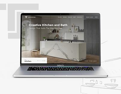 Portfolio website for interior design company