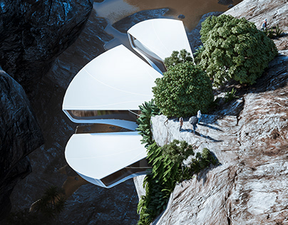 Nelumbo: Flower-Shaped Cliff House by Veliz Arquitecto