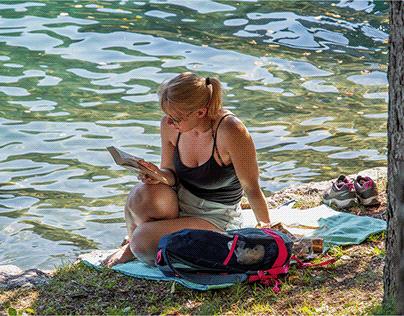 il lago di Bled - persone