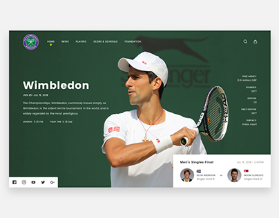 100 Weekdays Of UI - Day 001 - Wimbledon